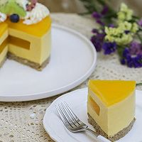 百香果南瓜慕斯生日蛋糕(百香果果冻夹层)的做法图解28