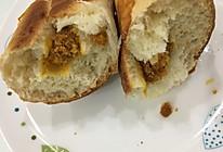 蛋黄肉松欧包的做法