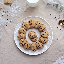 美味的巧克力豆软饼干
