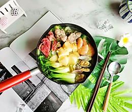 低脂养身三鲜锅的做法