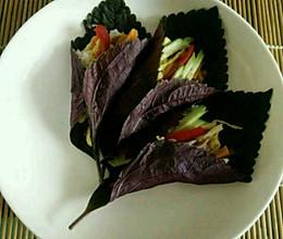紫苏饭卷的做法
