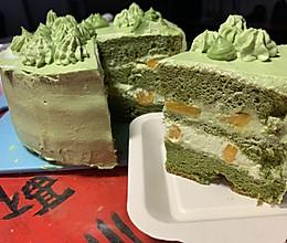 芒果抹茶蛋糕的做法