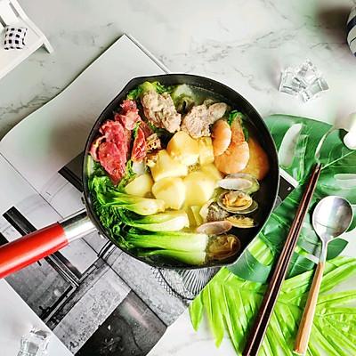 低脂养身三鲜锅