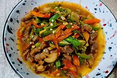 辣椒炒鸭肉