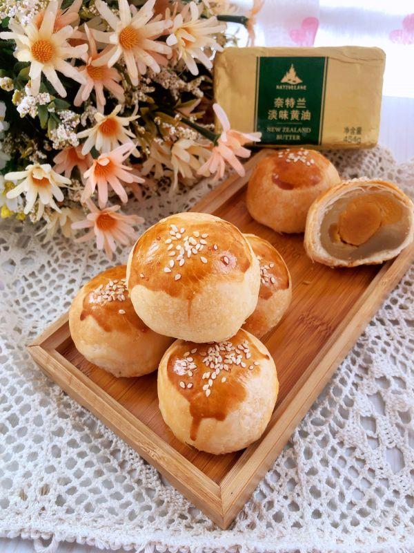 麻薯蛋黄酥的做法