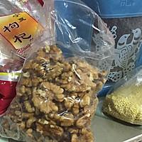 核桃黑米小米粥(产后月子餐)的做法图解1