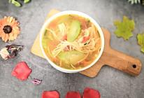 #精品菜谱挑战赛#丝瓜金针菇西红柿汤的做法