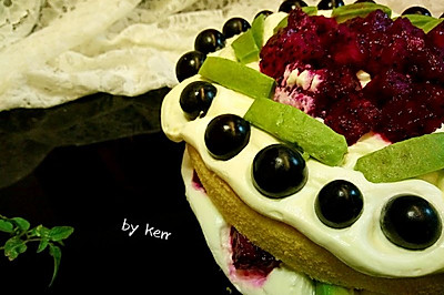 裸蛋糕   附加8寸戚风蛋糕的详细步骤