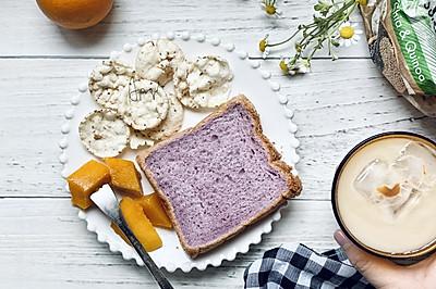 椰香紫薯吐司面包