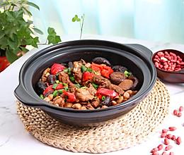 花生香菇炖鸭肉的做法