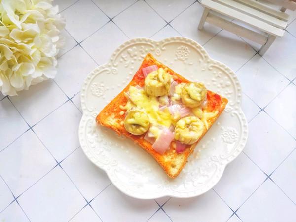 5分钟搞定的蔬菜吐司披萨的做法