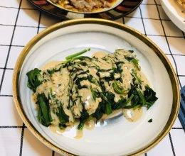 芝麻酱菠菜的做法