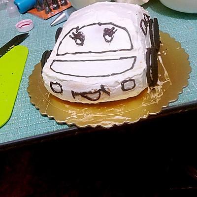 汽车蛋糕的做法 步骤4