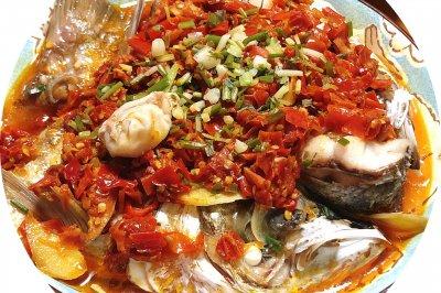 湖南家常剁椒鱼头~妈妈做菜の味道