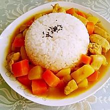 土豆鸡肉咖喱饭