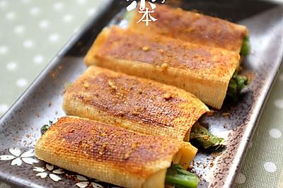 【豆皮蔬菜卷】把路边摊做成私房菜~ 家庭版铁板烤串