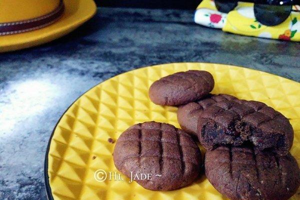 麻薯(糬)夹心 巧克力(抹茶)爆浆软曲奇的做法
