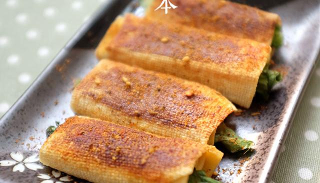 【豆皮蔬菜卷】把路边摊做成私房菜~ 家庭版铁板烤串的做法