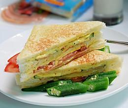 芝士火腿三明治#百吉福食尚达人#的做法