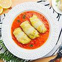 小羽私厨之番茄白菜海鲜卷