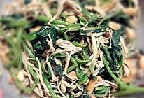 拌菠菜金针菇的做法