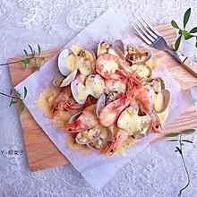 #肉食者联盟#芝士奶酪焗海鲜|海鲜版披萨#麦子厨房美食锅#