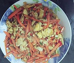 红萝卜丝炒鸡蛋的做法
