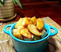 黑椒盐烤杏鲍菇的做法