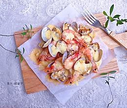 #肉食者联盟#芝士奶酪焗海鲜|海鲜版披萨#麦子厨房美食锅#的做法
