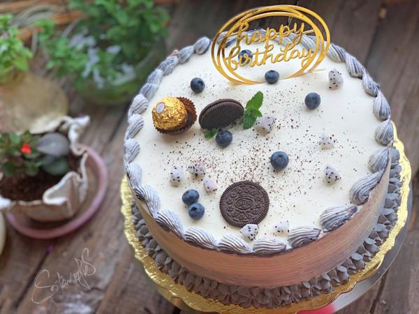 芒果十寸生日蛋糕