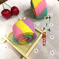 彩虹蛋糕卷#颜色控#