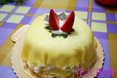 草莓千层可丽饼