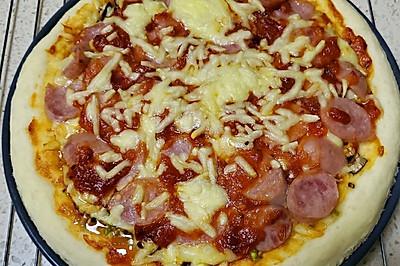 香肠披萨(自制披萨酱)