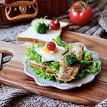 #一道菜表白豆果美食#开放式鳕鱼鸡蛋三明治
