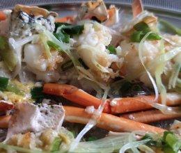 蒜蓉蒸大龙虾的做法