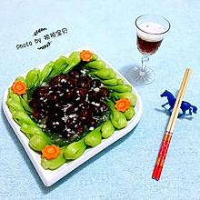 香菇扒菜胆#宴客拿手菜#