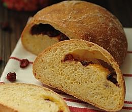 5分钟面包(6)-蔓越莓玉米面包(用铸铁锅烤欧式面包方法总结)的做法