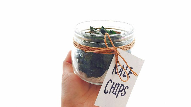 超低卡零食Kale Chips羽衣甘蓝脆片的做法