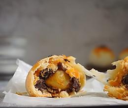 拉丝麻薯肉松蛋黄酥#金龙鱼外婆乡小榨菜籽油 外婆的时光机#的做法
