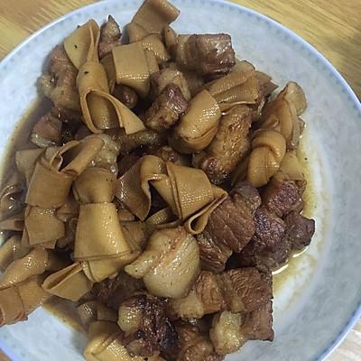 红烧肉炖干豆腐扣