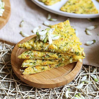 槐花玉米面煎饼