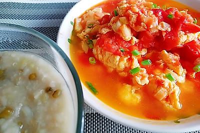 西红柿炒鸡蛋(番茄炒蛋)