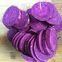 减肥减脂餐紫薯发糕#一汽呵成的做法图解2