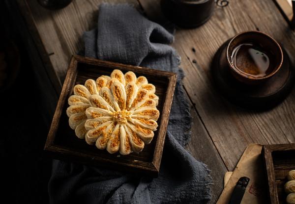 椰蓉菊花酥|中秋一定要做的中式点心的做法