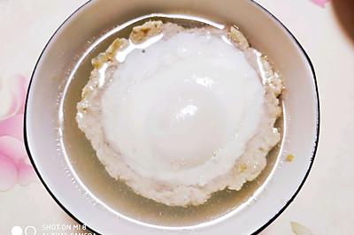 鸡蛋肉饼汤