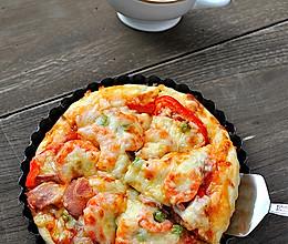 厚底鲜虾培根披萨的做法