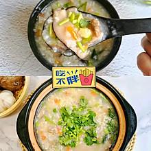 香菇鸡肉粥,营养暖胃,减肥期也可以大口吃