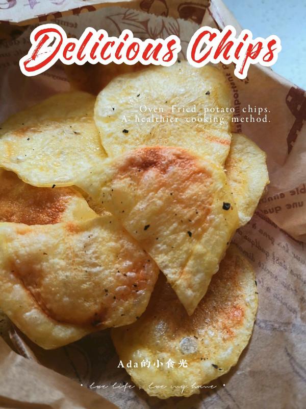 不用油炸的酥脆薯片的做法