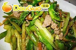 肉炒芦笋的做法