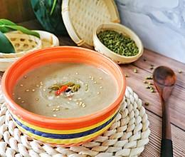 清凉一夏冰糖桂花绿豆沙的做法